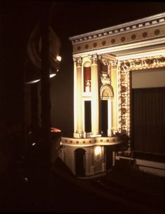 Restored proscenium arch in 1975 at Thalian Hall