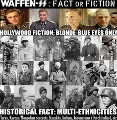 Hitler's army in reality was the most culturally,ethnically and religeously diverse military forces in Western history.