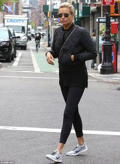 Keeping busy: Yolanda Hadid, 52, was on mum duty in NYC, running errands and helping move ...