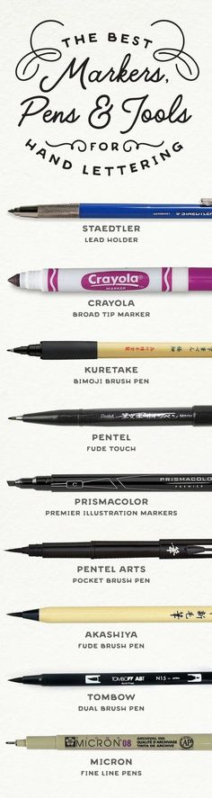 Using the right tools can help make hand lettering a lot easier. These are the best markers, pens, and tools for hand lettering (paper recommendations also)