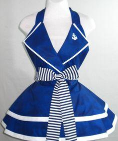 Sexy Navy Pin Up Girl Sailor Costume Apron by sjcnace4 on Etsy