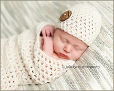 Cute as a Button Cocoon and Hat