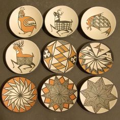 Folk Art. Decorations displaying exclusively rotational symmetry ...