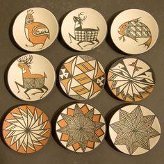 Dean Reano Acoma Pottery by eliza Native American Design, Native American Pottery, American Indian Art, Ceramic Pottery, Pottery Art, Ceramic Art, Painted Pottery, Southwest Pottery, Southwest Art