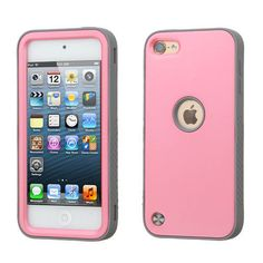 For-Apple-iPod-Touch-5th-6th-Gen-Hybrid-ShockProof-Rubber-Case-Cover-PINK-GRAY