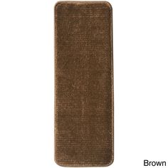 Ottomanson Softy Collection Contemporary Solid Design Stair Tread Rug ('9 x 2'2) (Set of 13) (Brown), Size 2' x 2'