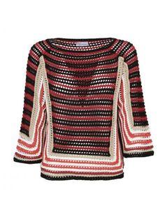 RED VALENTINO Red Valentino Crochet Sweater. #redvalentino #cloth #https: