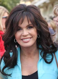 Marie Osmond's Long, Curly, Brunette Hairstyle