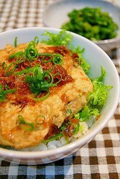 「鶏ムネ肉と豆腐の超ヘルシーつみれ丼」鶏胸肉と豆腐を使ったどんぶりです。節約・低カロリー・ボリューム満点!いいとこだらけ!【楽天レシピ】