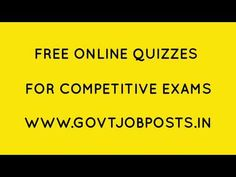 Get personalized dashboard enabled free online quizzes for competitive exams. Practice most important topics and models to crack government job posts. Online Quizzes, Job Posting, Government Jobs, Education, Youtube, Free, Onderwijs, Learning, Youtubers