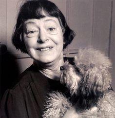 Dorothy Parker and her dog Misty.