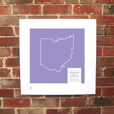 Ohio Personalized Print by Brough and Ready (on Fab).  Cool idea except Ohio is not really a purple state...