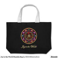 Joy to the World #Christmas #Mandala #Bag   #zazzle