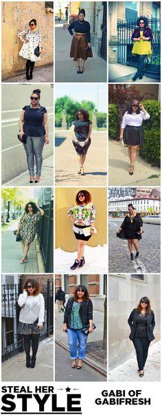 Gabi of GabiFresh {Steal Her Style} Curvy Girl Fashion, Love Fashion, Plus Size Fashion, Autumn Fashion, Womens Fashion, Plus Size Looks, Curvy Plus Size, Plus Size Girls, Full Figure Fashion