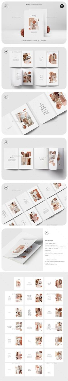Monday #Moodboard #Magazine Indesign Magazine Templates, Cool Magazine, Adobe Indesign, Brochure Design, Mood Boards, Layout, Lettering, Brochures, Free