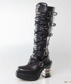 M-neopunk004-s1, Womens Biker Boots New Rock