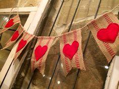 Valentines garland by Sassy Cajun
