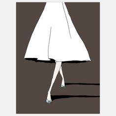 """Skirt"" - Alli Arnold limited edition print   16 X 20"