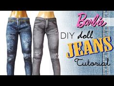 Tumblr Inspired Doll/Barbie Clothes (5 Projects) // DIY Dolls/Dollhouse - YouTube