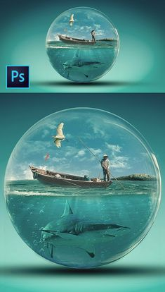 How to Create Glass World Photoshop Manipulation And Transparent Effect Photoshop Tutorial Cool Photoshop, Effects Photoshop, Photoshop Images, Learn Photoshop, Creative Photoshop, Photoshop Design, Photoshop Tutorial, Light Effect Photoshop, Conception Photoshop