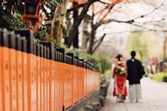 祇園で朱色に囲まれて*和装前撮り |*ウェディングフォト elle pupa blog*