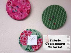 How To Make A Cute Fabric Cork Board made with Printed hankies