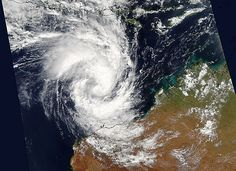 Aqua saw newly formed Tropical Cyclone Olwyn nearing northwestern Australia on March 11 when it passed overhead. Western Australia, Southern, Waves, Ocean, Storms, Aqua, March, Tropical, Weather