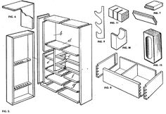 """This is an excerpt from """"The Woodworker: The Charles H. Hayward Years: Volume IV"""" published by Lost Art Press. A sense of orderliness in woodworking is an important factor contributing… Wood Tool Box, Wood Tools, Woodworking Tool Cabinet, Woodworking Projects, Drawer Rails, General Construction, Cabinet Plans, Ideal Tools, Cabinet Making"""