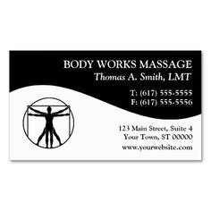 Massage Therapy Business Cards. I love this design! It is available for customization or ready to buy as is. All you need is to add your business info to this template then place the order. It will ship within 24 hours. Just click the image to make your own!