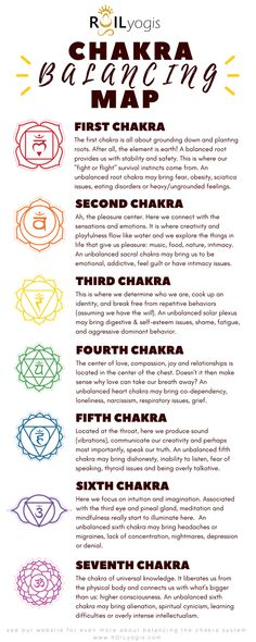 "Each chakra has a symbol, color, element, and relation to our current emotional and physical well-being that help us to understand our perceptions, behaviors, preferences and blockages. When we explore the Chakra System in coordination with our yoga or meditation practices, we start a self discovery journey that, as Marcel Proust wrote, ""consists not in seeing new landscapes, but seeing with new eyes."""