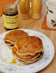 Sorghum and Pecan Pancakes