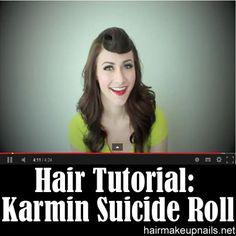 Karmin Suicide Roll Hair Tutorial