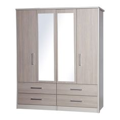 Avola Champagne 4 Door, 4 Drawer Mirrored Wardrobe – Next Day Delivery Avola Champagne 4 Door, 4 Drawer Mirrored Wardrobe from WorldStores: Everything For The Home