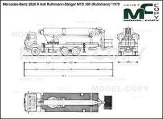 Mercedes-Benz 2626 K 6x6 Ruthmann-Steiger MTS 300 (Ruthmann) '1979 - blueprints (ai, cdr, cdw, dwg, dxf, eps, gif, jpg, pdf, pct, psd, svg, tif, bmp)