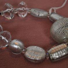 """Silver Sensation"" - $22 w/$3 shipping  http://rexanasbeads.webs.com/bracelets"