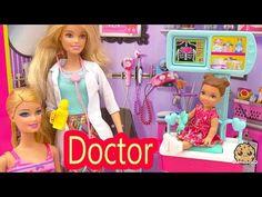 Barbie Babysitting Baby Twins Color Change Water Bath Play Video Babysitter Playset Cookieswirlc - YouTube