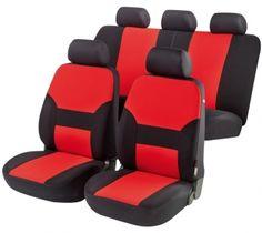 """Autositzbezug ZIPP IT Basic """"Porto"""" rot - sehr eleganter Autositzbezug aus Polyester für einen schönen PKW Innenraum."""