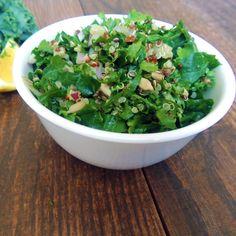 Kale Quinoa Salad With Lemon Garlic Tahini Dressing