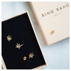 Mary Jane studs & rings, 14k gold vermeil.