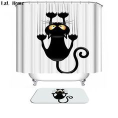 Shower Curtain - CAT COLLECTION (More designs inside!) Waterproof Fabric- VARIOUS DESIGNS! -  #pinterestgasm.com BOGO!!
