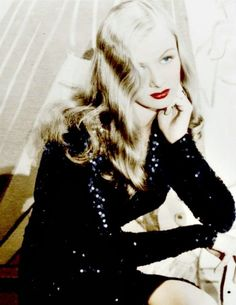 Veronica Lake (Color by Brenda J Mills) Old Hollywood Glamour, Golden Age Of Hollywood, Vintage Hollywood, Hollywood Stars, Classic Hollywood, Look Vintage, Vintage Glamour, Vintage Beauty, Divas