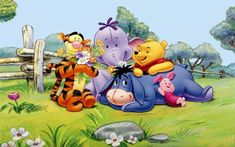 Winnie The Pooh Tigger Eeyore Piglet And Elephant Spring Hd Wallpaper Winnie The Pooh Quotes, Disney Winnie The Pooh, Baby Disney, Disney Cruise, Pooh Bear, Tigger, Cartoon Wallpaper Hd, Iphone Wallpaper, Cartoon Online