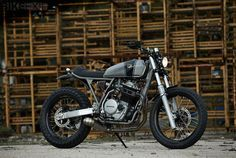 Honda XR650R Street Tracker  Thinking of doing my frame in dark gray rather than black. It would go well with my color scheme.