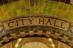 New York. New York Subway, Nyc Subway, Subway Art, Subway Tile, City Hall Station, Underground Cities, I Love Nyc, Skylight, Architecture Details