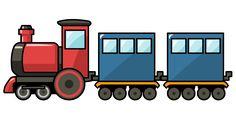 Cartoon Train | Free Cute Cartoon Train Clip Art
