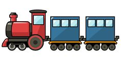 Cartoon Train | Free Cute Cartoon Train Clip Art