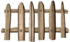 Old Wooden Fence PNG Clipart