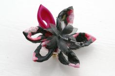 Japanese Fabric Brooch Pin Kanzashi Flower by cuttlefishlove, £12.00