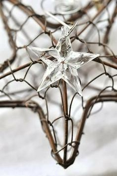 need to find some crystal stars (even plastic ones might do) Merry Christmas, Christmas Love, Rustic Christmas, Winter Christmas, Handmade Christmas, Christmas Gifts, Xmas, Look At The Stars, Stars And Moon