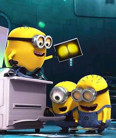 Minions...don't worry I wont do this at the office in the future! haha